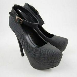 Just fab 7.5 black heels